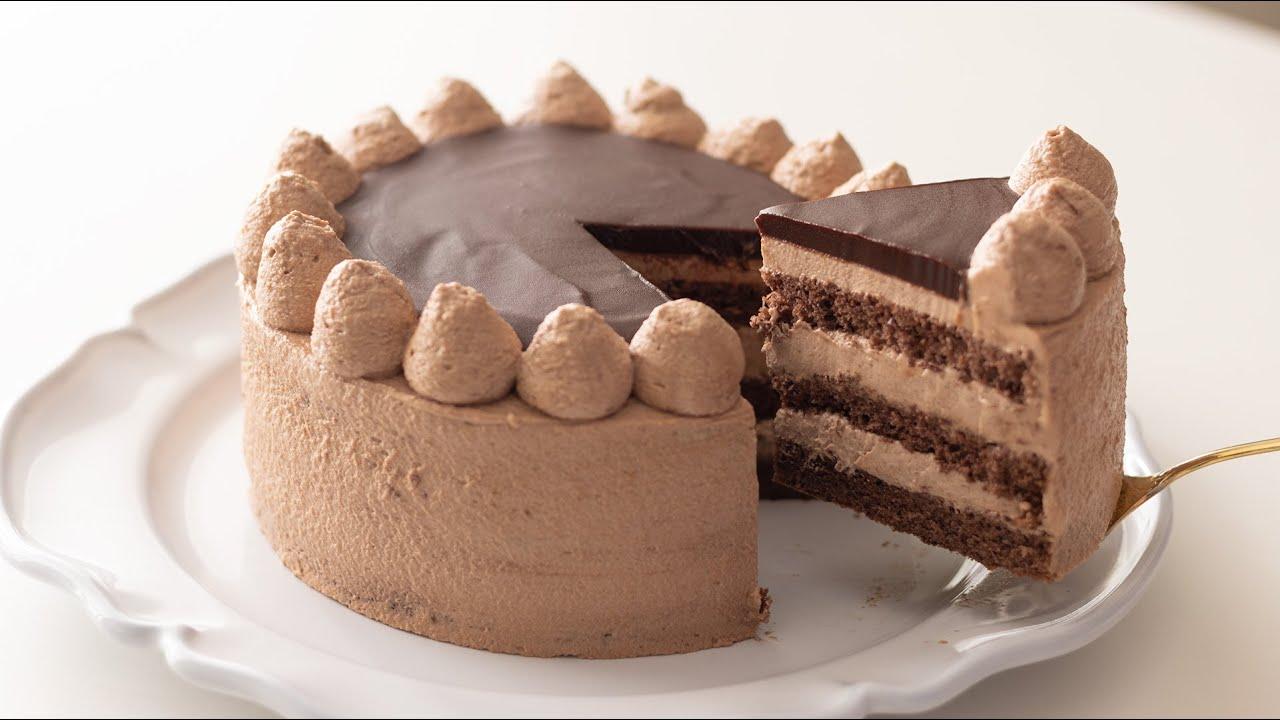 ガナッシュ仕上げのチョコレートケーキ【バレンタインデーレシピ】