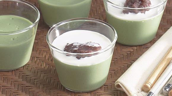 抹茶のミルクプリン